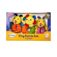 新生儿童宝宝手摇铃玩具婴儿安抚毛绒玩偶手偶0-3-6个月