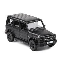 奔驰保时捷兰博基尼大众回力双开门合金汽车模型玩具车 磨砂黑 奔驰G63盒装
