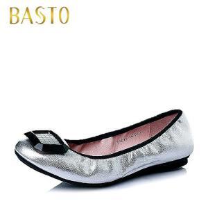 BASTO/百思图春季专柜同款山羊皮时尚舒适女休闲鞋TVD41AQ6