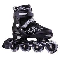 溜冰鞋儿童全套装单排直排轮男女初学者可调旱冰轮滑鞋