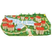 diy小屋迷你手工玩具屋和谐时代创意建筑模型拼装小房子