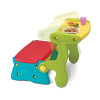 费雪 Fisher-Price 早教玩具 多功能储物学习游戏桌椅组合 储物学习桌椅