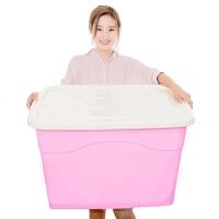 衣物收纳箱塑料箱储物箱箱子收纳盒被子整理箱有盖玩具衣服