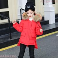 女童棉衣2018新款韩版儿童中长款女孩棉袄面包服冬装外套加厚