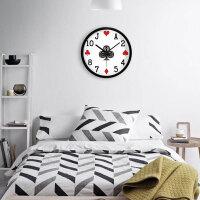 扑克个性挂钟客厅卧室创意现代简约静音钟表时钟石英钟挂表