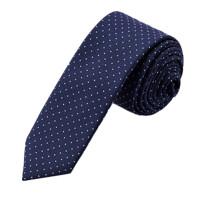 领带 男士职业商务OL优雅百搭5CM藏蓝色圈圆点