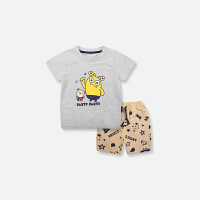 儿童套装夏新款女宝宝婴儿衣服男童卡通小怪兽两件套