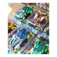 超速四驱车电动拼装玩具车四驱兄弟模型赛车玩具儿童节礼物 荧光轮四驱车 送电池2个
