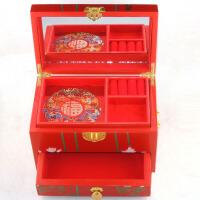 漆器首饰盒 复古仿古中式化妆盒梳妆盒 戒指盒项链盒 生日表白结婚礼物情侣礼物
