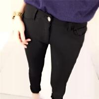裸穿高个子加长女士裤子休闲裤弹力显瘦超长小脚裤黑色大码女裤