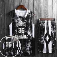 夏季个性篮球服套装男女士大学生比赛儿童背心印字篮球衣队服