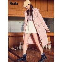 工装轻薄羽绒服女中长款冬季新款韩版修身学生加厚牛角扣外套
