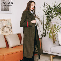 2017秋冬新款韩版原宿风森系外套学生中长款长过膝羊毛呢子大衣女