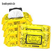 手口专用80抽6包100批发带盖 婴儿湿巾宝宝屁湿纸巾幼儿