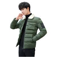 棉衣男士冬季新款外套大码男装棉袄冬装衣服袄子羊羔绒羽绒棉服