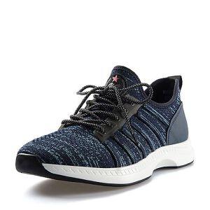 BASTO/百思图2018夏季专柜同款织物/丝绸牛皮系带男休闲鞋K7502BM8