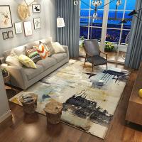 现代简约抽象艺术沙发茶几地毯北欧式客厅长方形卧室满铺床边地毯