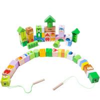 婴幼儿童玩具1-2-3岁穿线穿珠子男女孩宝宝串珠玩具
