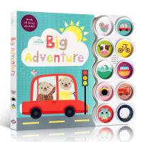 英文原版 Little Friends Big Adventure 小朋友大冒险纸板书 亲子互动玩乐10种声音 低幼启