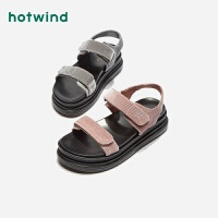 热风新款潮流时尚女士凉鞋中跟休闲露趾凉鞋H59W9225