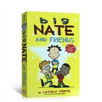 英文原版 Big Nate and Friends 大内特和朋友英文原版儿童英语故事书 全彩漫画+大海报 课后阅读绘本