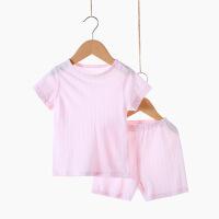 2019 夏季竹纤维婴儿内衣宝宝睡衣短袖套装裤套装家居服