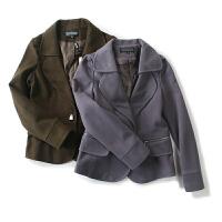 女装春季新 职业西装领一粒扣女士西服长袖毛呢外套女