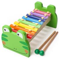 1岁3婴幼儿童八音琴手敲琴宝宝玩具敲琴乐器 智力敲打音乐玩具琴