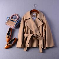 2018【1.9斤】J24秋季新西装领纯色长袖保暖毛呢外套