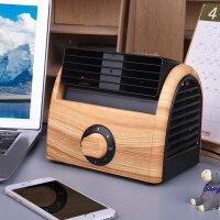 迷你风扇静音家用空调桌面台式无叶小风扇学生宿舍床上办公室电扇