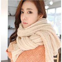韩国版超长加厚围脖男女通用情侣保暖毛线围巾
