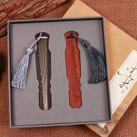 联盟古风琴韵书香古风古琴书签中国风 木质红木复古高档礼品 古典创意礼盒