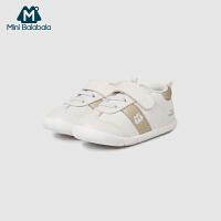 【满200减130】迷你巴拉巴拉婴儿学步鞋男女宝宝软底防滑鞋子2019春季新款童鞋