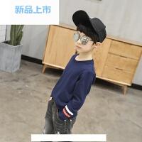 童装男童长袖t恤春装2018新款儿童打底衫纯色上衣男孩体恤韩版潮9