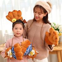 卡通亲子爪子手套女冬可爱韩版学生暴爪熊掌手套加厚毛绒保暖礼物
