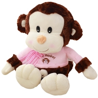 毛绒公仔娃娃送女生 猴子毛绒玩具懒人长抱枕头萌可爱送女友生日礼物布娃娃玩偶公仔