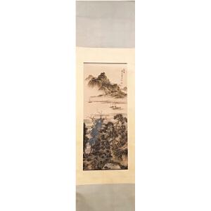 陈少梅《泛舟图》纸本立轴