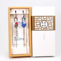 书签 中国风 金属定制书签套装青花瓷瓶创意礼物文具中国礼品送老外