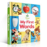 英文原版绘本书 迪士尼 Disney Baby My First Words 0-3岁儿童启蒙学习英语进口正版图画书