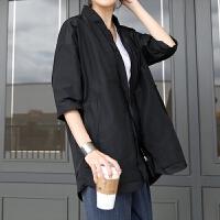 干练短款风衣 2017春秋新款韩版大码女装宽松简约休闲外套