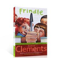 顺丰发货 我们叫它粉灵豆Frindle英文原版 安德鲁 克莱门斯美国经典校园小说 儿童文学 初中小学生青少年少儿读物