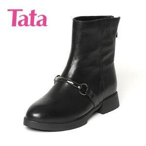 【百丽集团夏季大促,5.28准时开抢】Tata/他她专柜同款小牛皮女休闲靴FE360DZ6