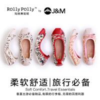 jm快乐玛丽夏季时尚个性平底浅口帆布鞋女鞋低帮舞蹈学生鞋61572W