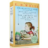 英文原版小说绘本 Charlotte's Web 夏洛特的网 精灵鼠小弟吹小号的天鹅3本 E.B.White 怀特 美