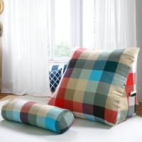 全棉三角床头大靠垫垫床上护颈靠枕沙发护腰靠垫
