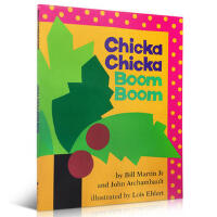 英文原版 Chicka Chicka Boom Boom 叽喀叽喀碰碰 廖彩杏推荐书单绘本 3-6岁低幼儿童启蒙认知英