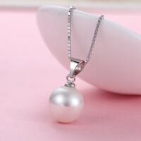 贝壳珍珠吊坠S925银项链女士日韩版简约时尚装配饰品