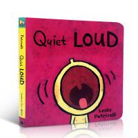 英文原版 Quiet Loud安静喧闹 i幼儿启蒙纸板书绘本board books培养宝宝的行为习惯英语学习 lesl