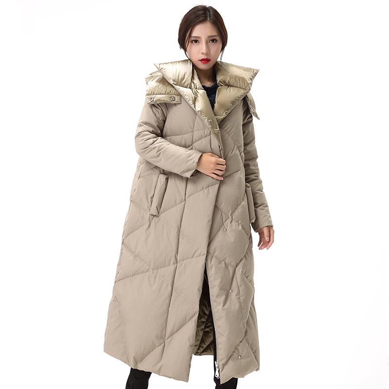 【限时抢购 到手价:449】yaloo/雅鹿羽绒服女中长款韩国2017冬装新款韩版长款过膝加厚外套