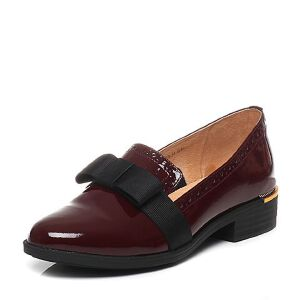 Belle/百丽2017春专柜同款时尚英伦漆皮牛皮女单鞋BLTA8AM7